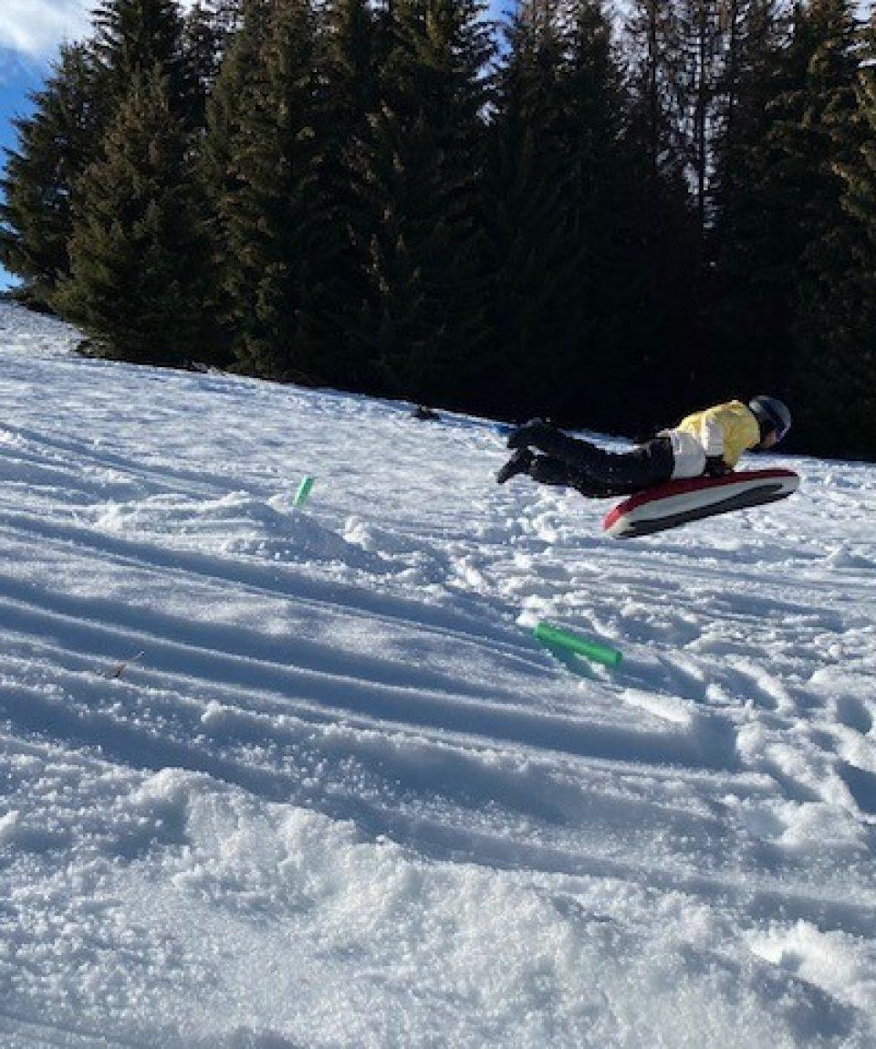 Airboard saut
